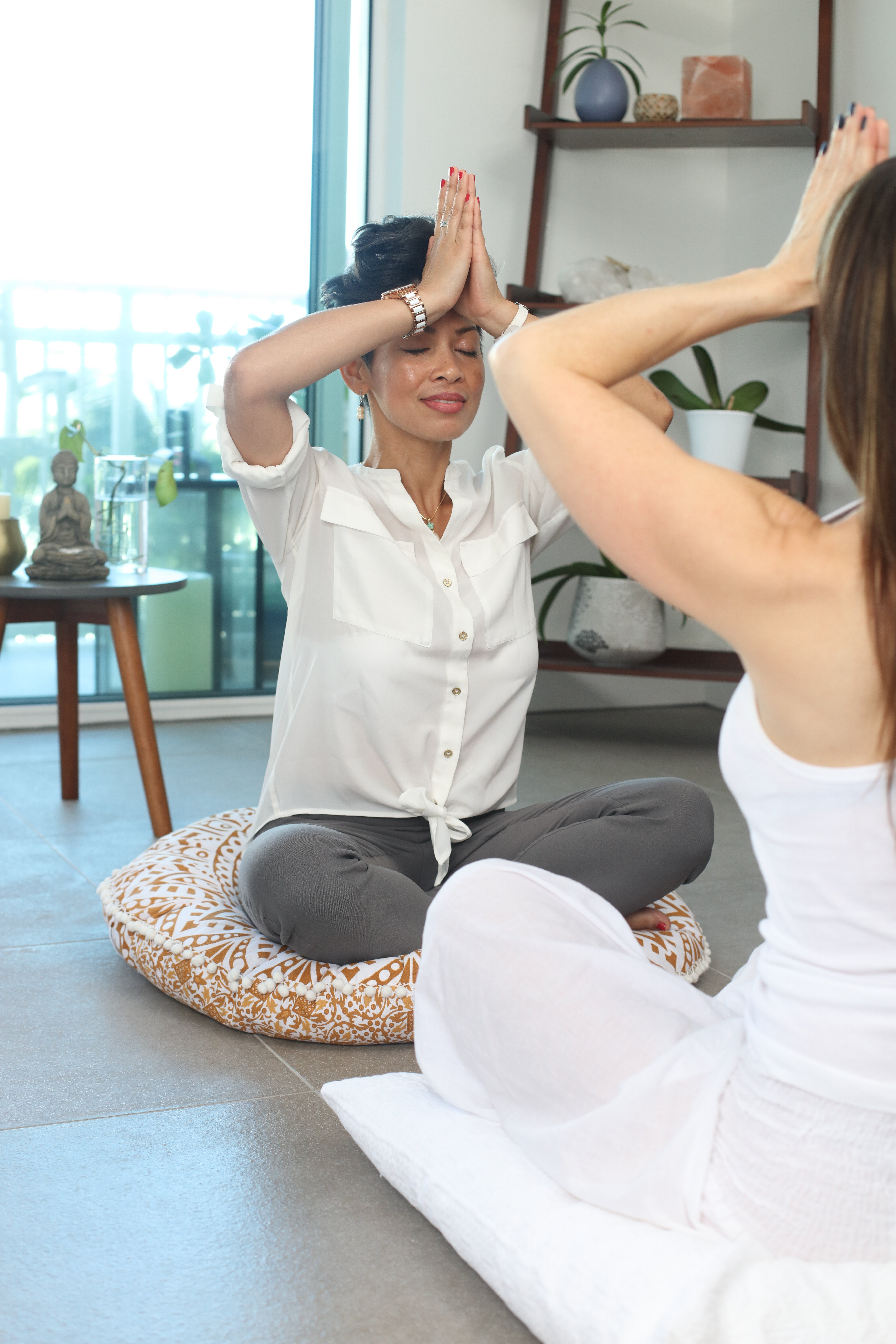 yoga with instructor